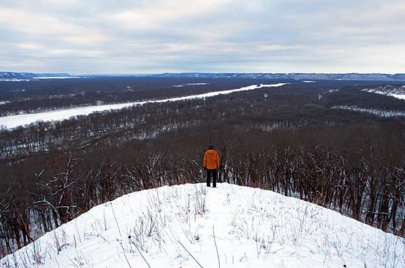 Five Mile Bluff in Winter