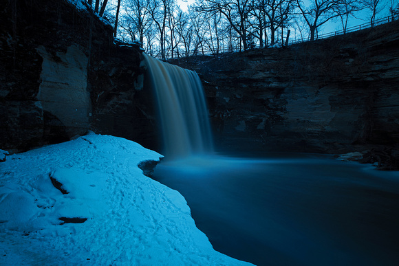 Spring Twilight at Minneopa State Park