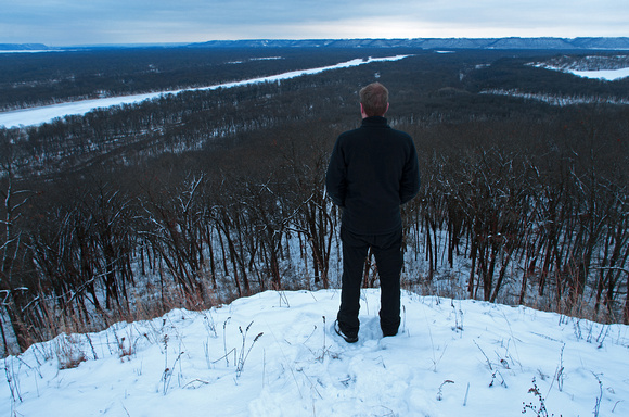 Looking Out Over the Winter Valley